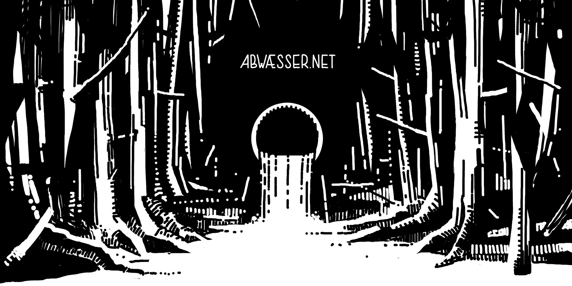 Abwaesser, Abflussrohr im Wald