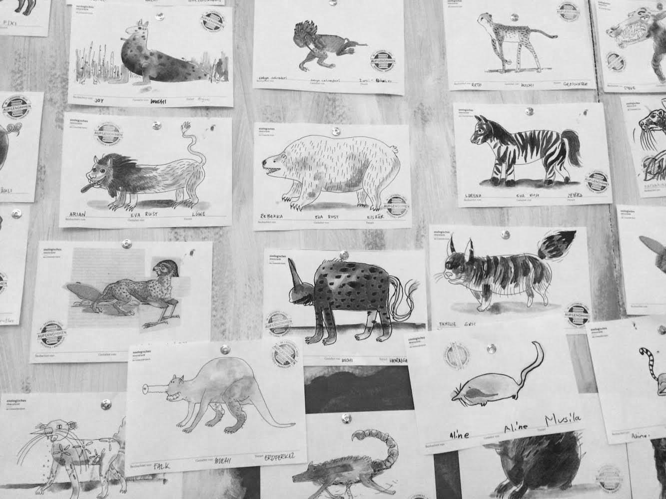 Visual Recording Wand Zoologisches Museum Zürich, Nacht der Museen