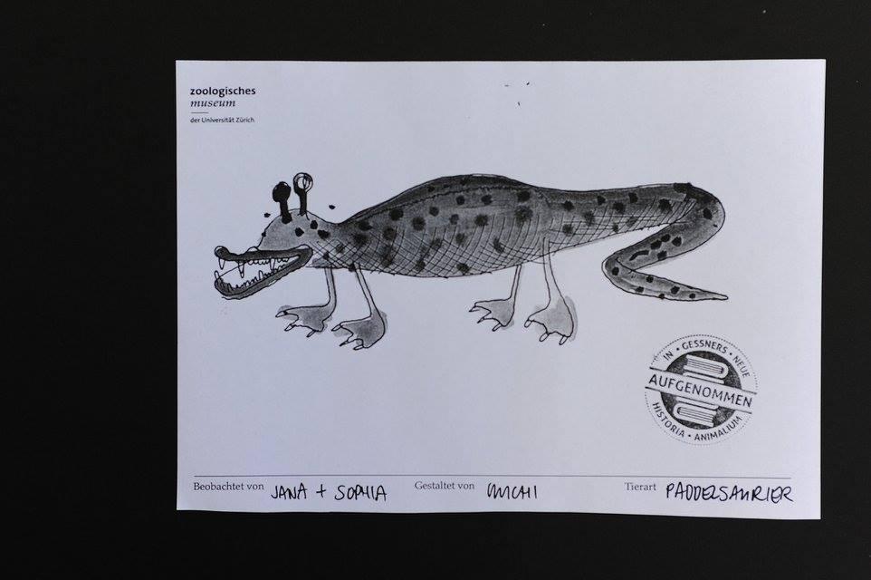 Visual Recording Skizze 4, Zoologisches Museum Zürich, Nacht der Museen