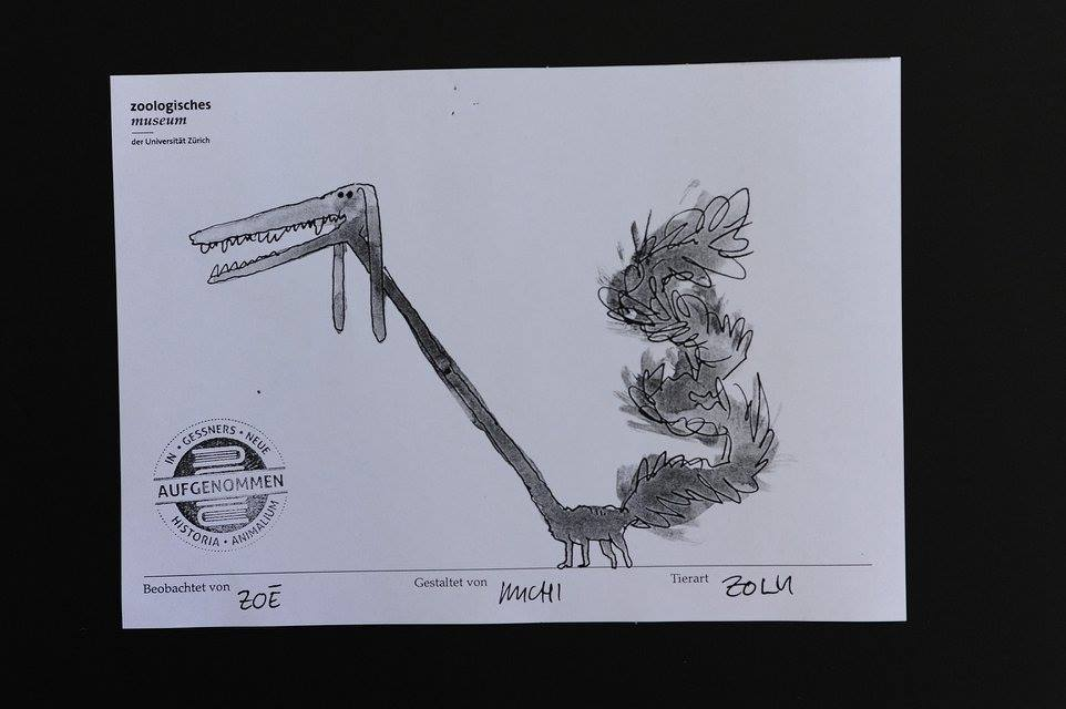 Visual Recording Skizze 6, Zoologisches Museum Zürich, Nacht der Museen