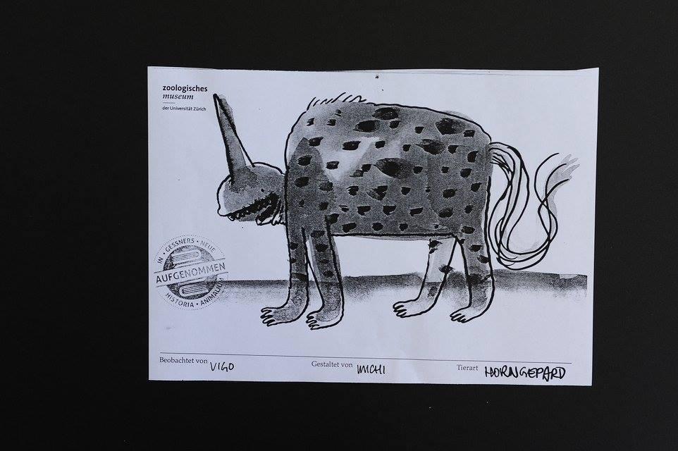 Visual Recording Skizze 2, Zoologisches Museum Zürich, Nacht der Museen