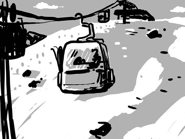 Bild aus Storyboard, Gondel