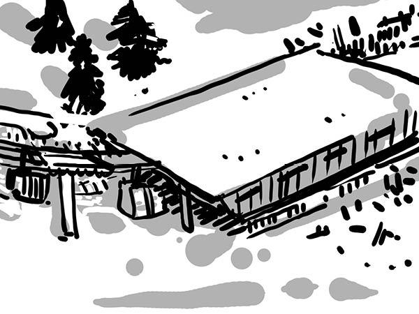 Bild aus Storyboard, Talstation